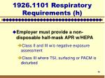 1926 1101 respiratory requirements h16