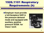 1926 1101 respiratory requirements h17