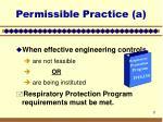 permissible practice a