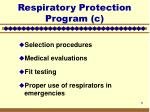 respiratory protection program c5