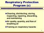 respiratory protection program c6