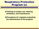 respiratory protection program c7