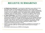 relieve submarino