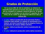 grados de protecci n