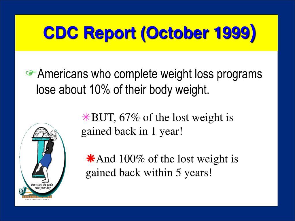 CDC Report (October 1999