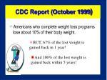 cdc report october 1999