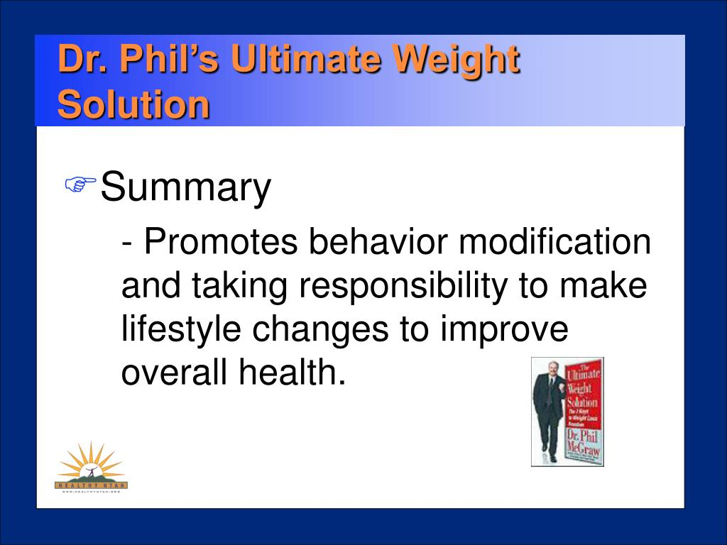 Dr. Phil's Ultimate Weight Solution
