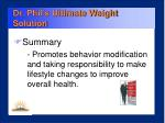 dr phil s ultimate weight solution