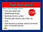 fad diet alert