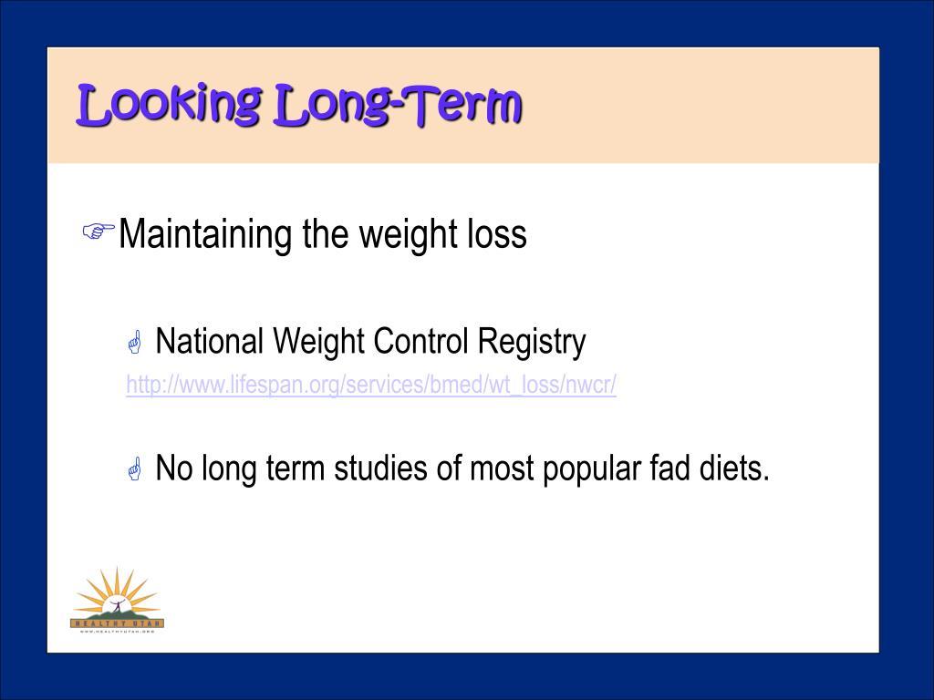 Looking Long-Term