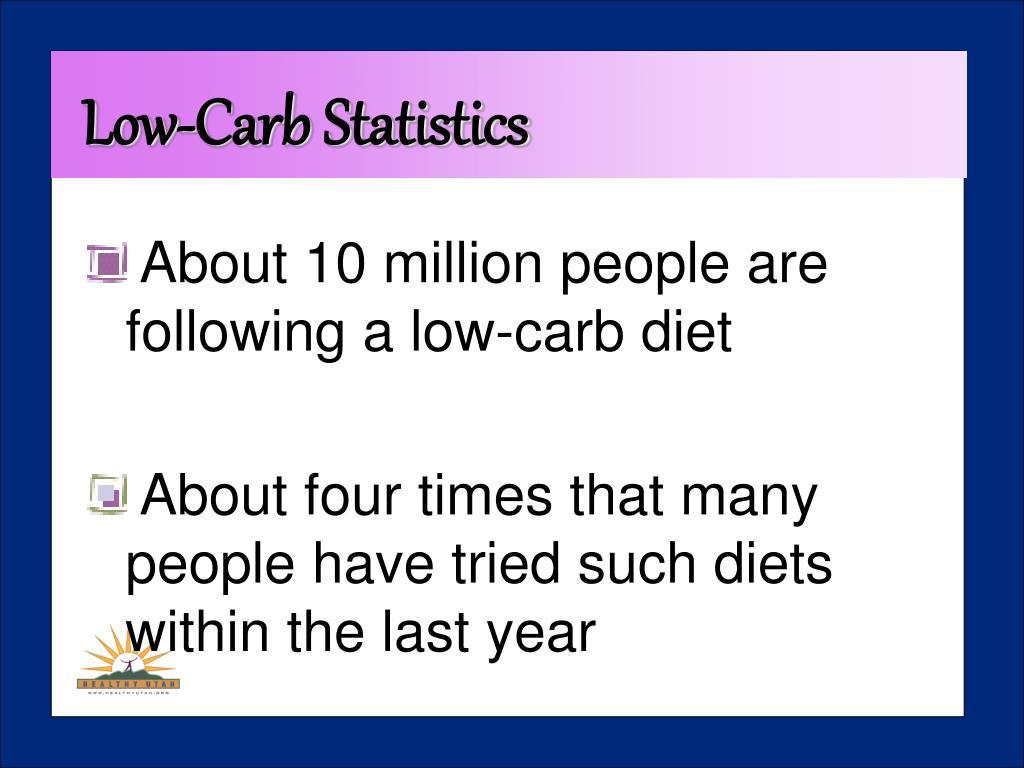 Low-Carb Statistics