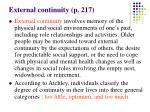 external continuity p 217