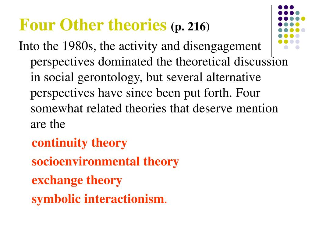 Four Other theories