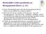 hochschild s critics problems on disengagement theory p 215