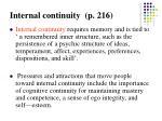 internal continuity p 216
