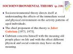 socioenvironmental theory p 218