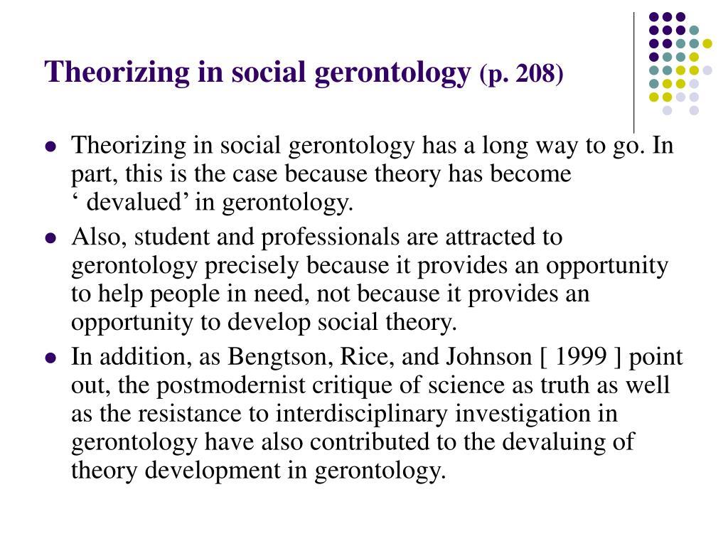 Theorizing in social gerontology