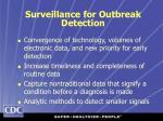 surveillance for outbreak detection
