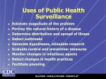 uses of public health surveillance