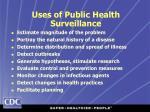 uses of public health surveillance22