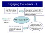 engaging the learner 1