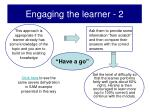 engaging the learner 2