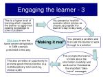 engaging the learner 3
