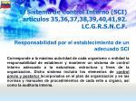 el sistema de control interno sci articulos 35 36 37 38 39 40 41 92 lc g r s n c f