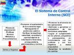 el sistema de control interno sci
