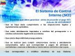 el sistema de control interno sci50