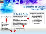 el sistema de control interno sci51