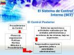 el sistema de control interno sci52