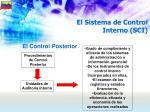 el sistema de control interno sci53