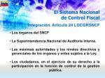 el sistema nacional de control fiscal42
