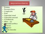 requisitos f sicos
