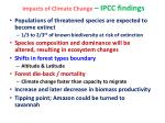 impacts of climate change ipcc findings