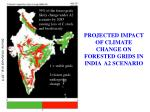 projected impact of climate change on forested grids in india a2 scenario