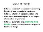 status of forests