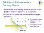 additional refinements cutting planes
