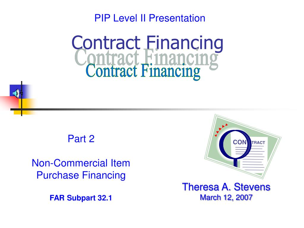 contract financing l.
