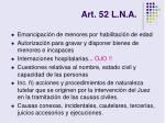 art 52 l n a8