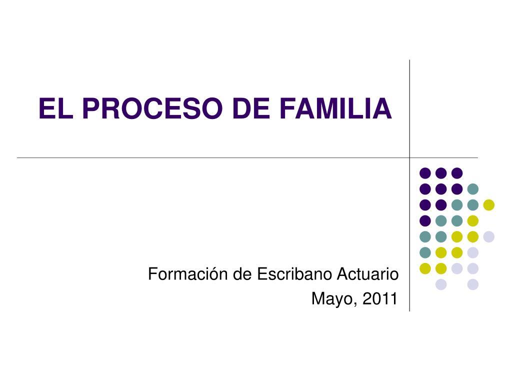 el proceso de familia l.