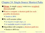 chapter 24 single source shortest paths