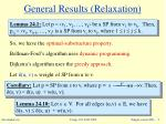 general results relaxation