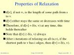 properties of relaxation