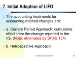 7 initial adoption of lifo