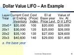 dollar value lifo an example