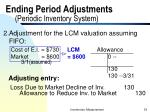 ending period adjustments periodic inventory system33