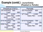 example contd journal entries perpetual vs periodic