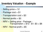 inventory valuation example